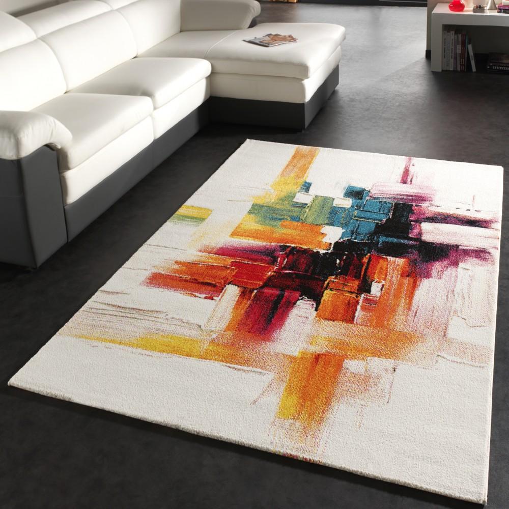 Wohnzimmer Teppich Modern Kurzflor