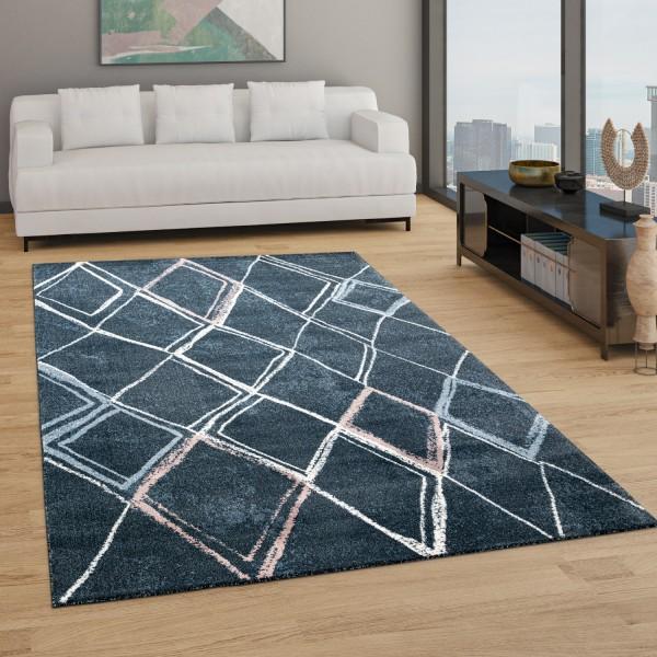 Teppich Wohnzimmer Boho Rauten Muster Modern