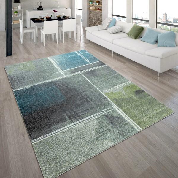 Designer-Teppich Kurzflor Muster Farbverlauf