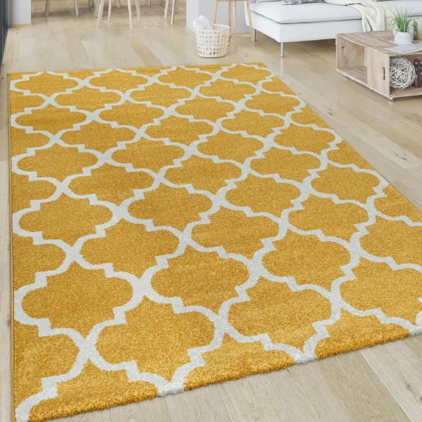 Wohnzimmer-Teppich Kurzflor Im Orient-Design
