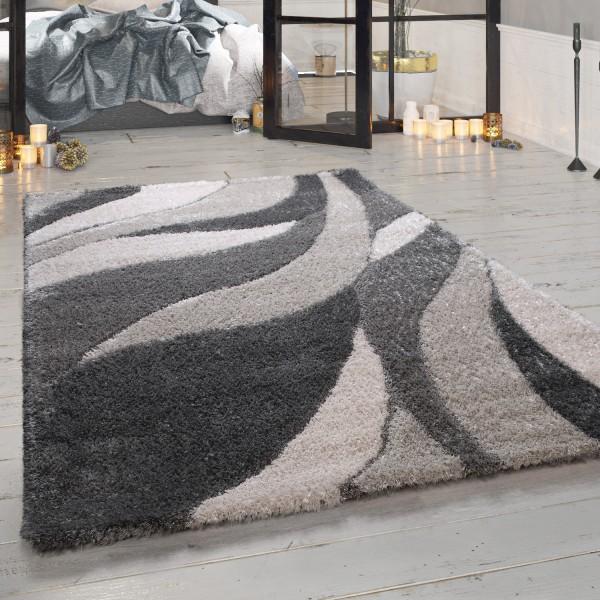 Kurzflor Teppich Karo Design Used Look Viereck