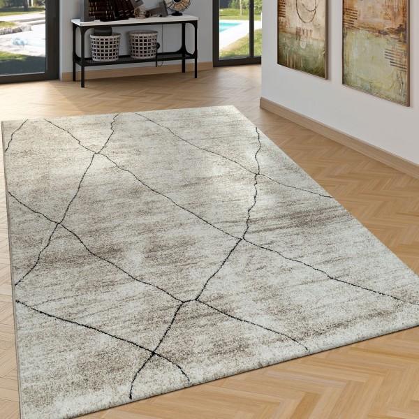 wohnzimmer teppich shabby chic abstraktes muster. Black Bedroom Furniture Sets. Home Design Ideas