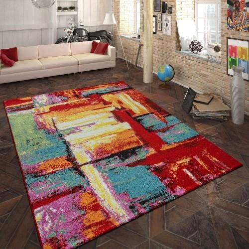 Designer Teppich Abstraktes Design Multicolor
