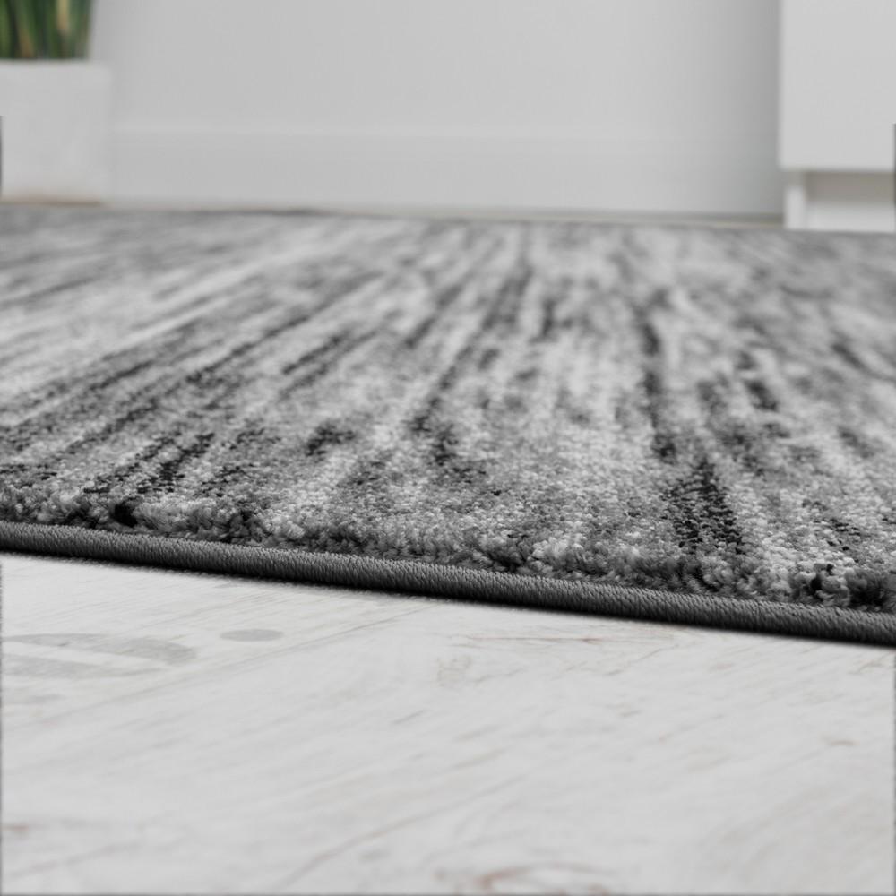 Teppiche Wohnzimmer Meliertes Design Kurzflor Grau
