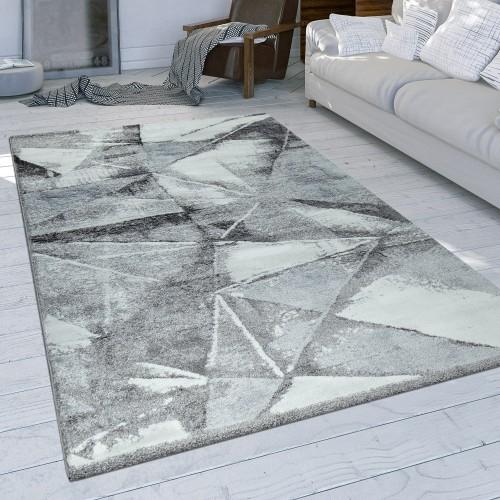 Wohnzimmer Teppich Used Design Dreieck Muster