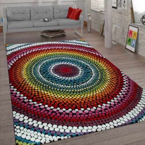 Wohnzimmer Teppich Retro Muster 3-D Design Boho