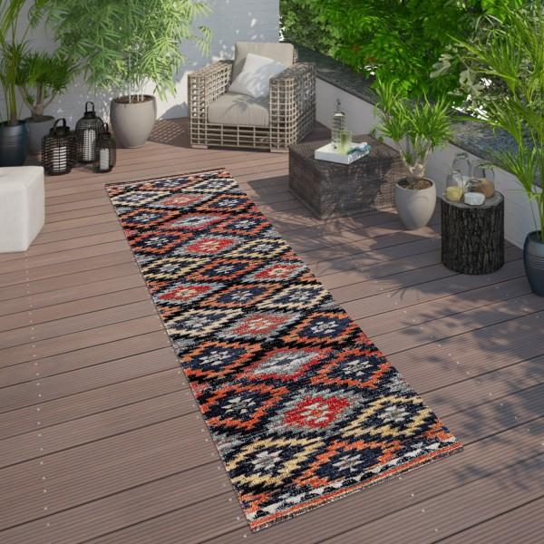 In- & Outdoor Teppich Zickzack Muster Terrasse