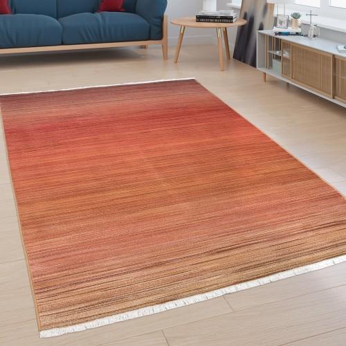 Teppich Wohnzimmer Farbverlauf Einfarbig
