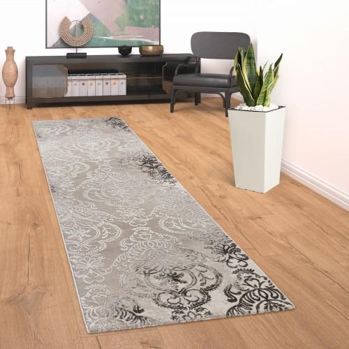 Teppich Ornamente Wohnzimmer Muster Meliert