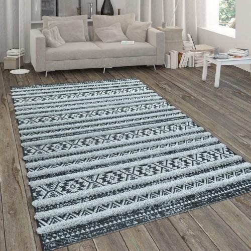 In- & Outdoor-Teppich mit Hochflor-Absetzung