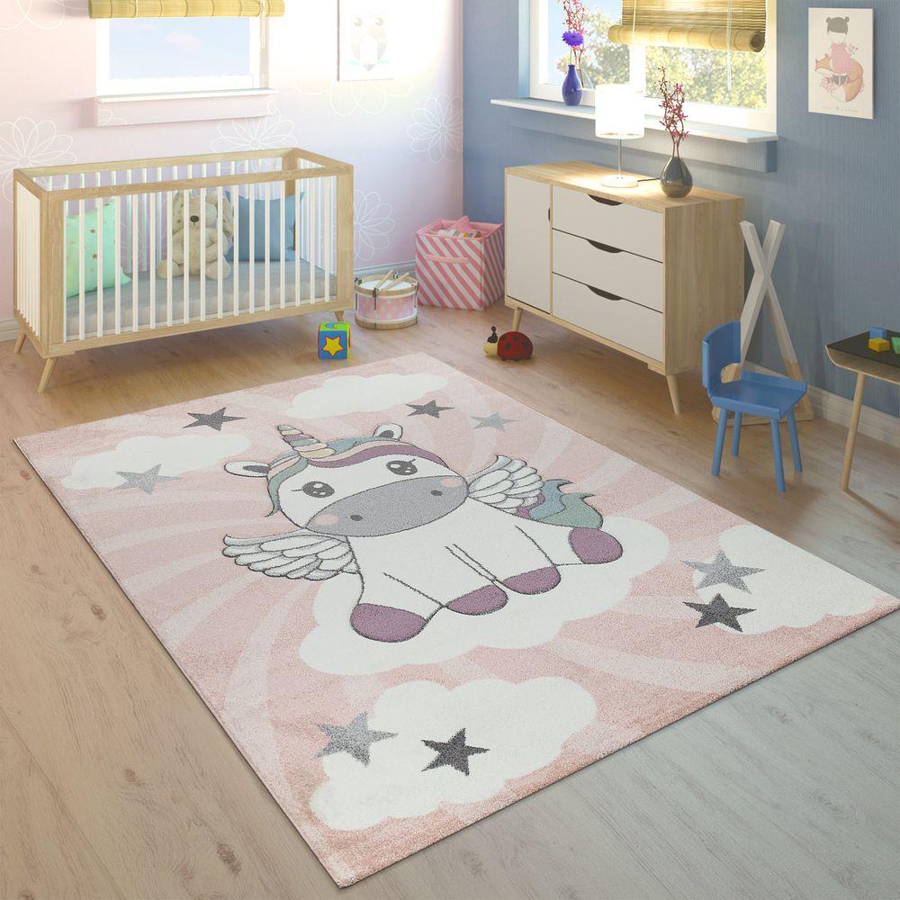 Kinderteppich Kinderzimmer Madchen Einhorn Wolken