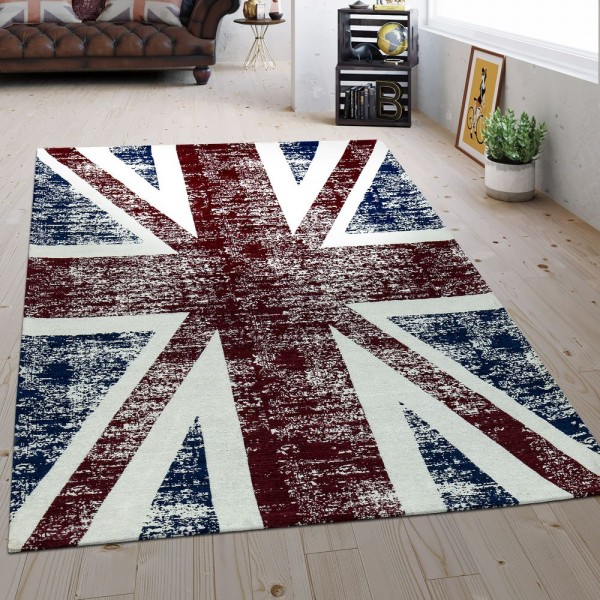 Flachgewebe Teppich UK Flagge Multicolor
