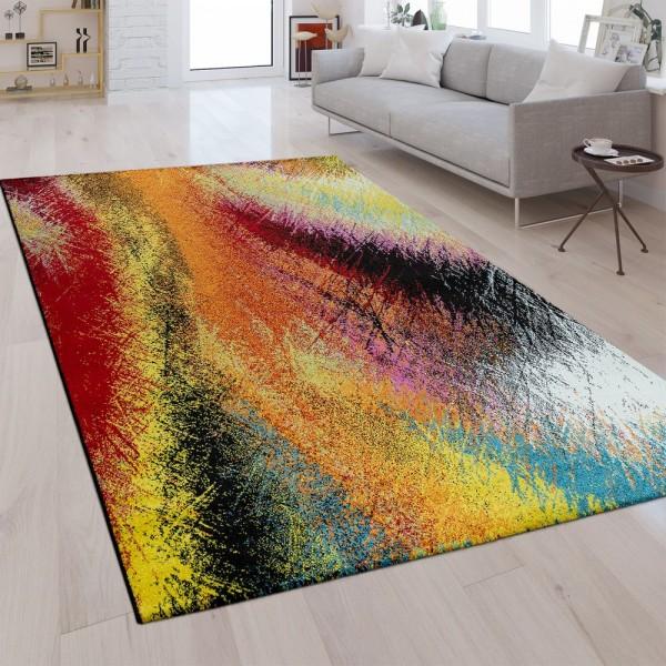 Designer Teppich Farbverlauf Regenbogen Farben