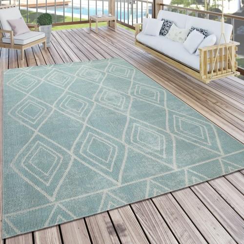 Teppich Outdoor Balkon Rauten Skandi Design