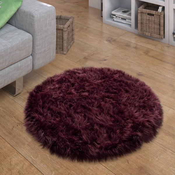 Teppich Wohnzimmer Flauschig Kunstfell Optik