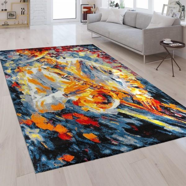 Designer Teppich Musiker Multicolor