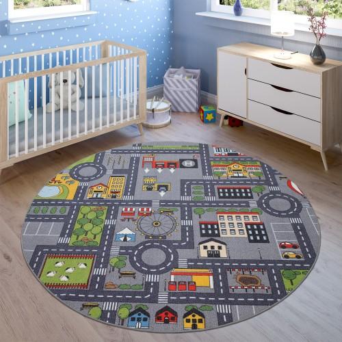 Kinder Teppich Kinderzimmer Auto Spielteppich