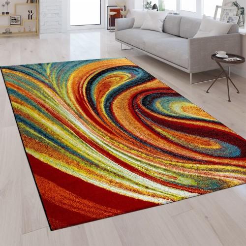 Designer Teppich Abstrakte Optik Multicolor