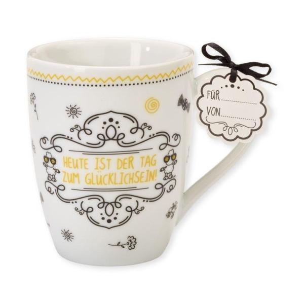 Sheepworld 59257 Lieblingstasse Heute ist der Tag zum glücklich sein, Tee-Tasse, mit Geschenk-Anhäng