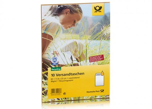 Deutsche Post - 10 Versandtaschen - B5 nassklebend ohne Fenster