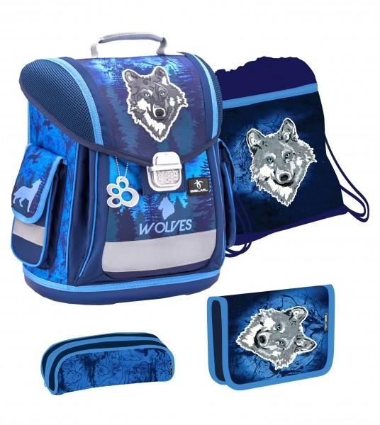 Belmil Sporty Schulranzen Set 4 - teilig Mountain Wolf