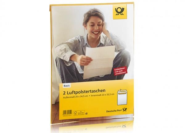 Deutsche Post 2 Luftpolstertaschen braun haftklebend