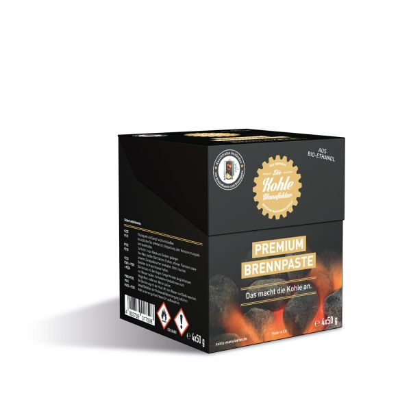 Kohle Manufaktur Premium Brennpaste (4x50 Gramm)